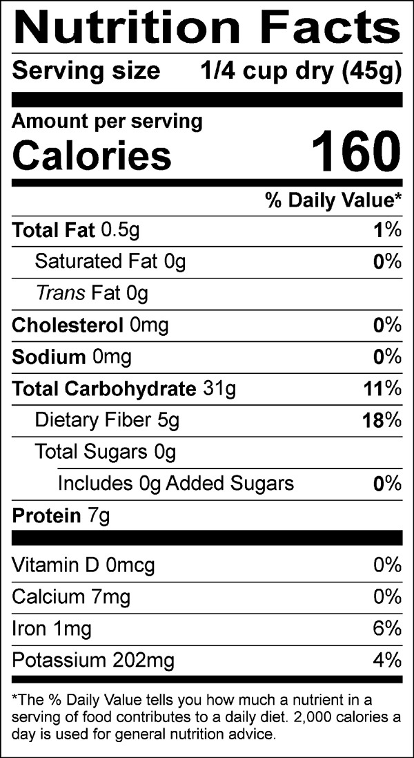 kamut wheat nutrition facts