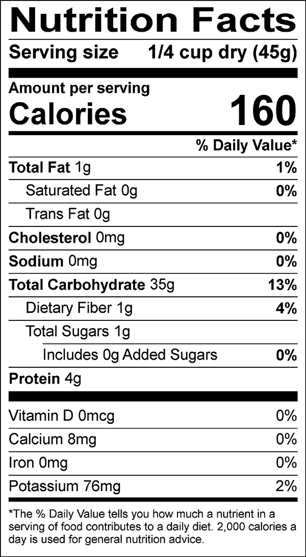 Temple Medley nutrition facts